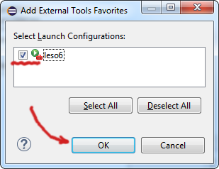 Add External Tools Favorites