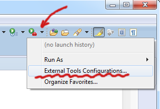 External Tools Configuration...